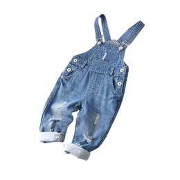 8e2cb65940 2019 new baby Suspenders hole denim Toddler Jumpsuit Boys jeans Suspenders  baby clothes baby boy clothes girls Suspender Jeans pants A4340 girls denim  ...