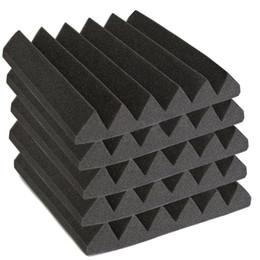 Painéis acústicos on-line-12 Pack Acústico Wedge Estúdio Foam Som Absorção parede Painéis de 2 polegadas x 12 polegadas x