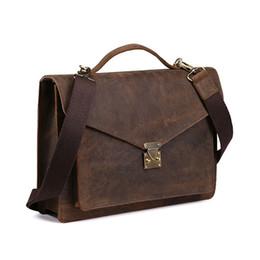 BOLEKE Maletín de cuero genuino para hombres Maletín de negocios Portátil Vintage Oficina grande Hombro Messenger Bags Travel Lujo desde fabricantes