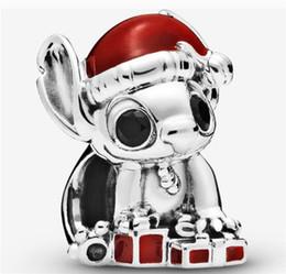 stich perle Rabatt Authentische Weihnachtsstich Charms-Armband S925 Sterlingsilber-Korn-Pinguin-Charme passte für Pandora Armband DIY Beads