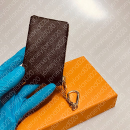 PORTACHIAVI M62650 POCHETTE CLES Fashion Designer Womens Mens Portachiavi Porta carte di credito Portamonete Luxury Mini Borsa a portafoglio Fascino Marrone Tela da mini tela fornitori