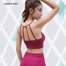 0739b3032a652 Sport Bra Sexy Crop Top Gym Yoga Running Fitness Brassiere Energy Seamless Push  Up Padded High Impact Sports Bra Active Wear Bh