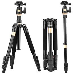 suporte de filmadora Desconto Q555 viagem portátil filmadora tripé suporte titular para canon nikon dslr camera boa qualidade
