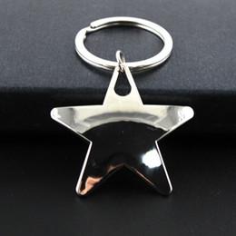 Spitze ringe online-2019 personalisierte metall schlüsselanhänger kreative fünfzackigen stern anhänger schlüsselbund schlüsselanhänger einfache schlüsselanhänger autoschlüssel halter werbegeschenk m451f