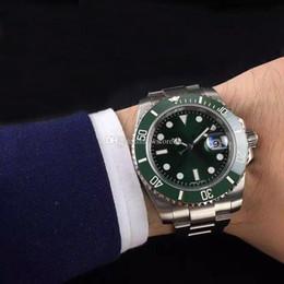 Mens relógios de luxo de 40mm moldura de cerâmica completa de aço inoxidável movimento mecânico automático 116610 reloj de lujo safira 5atm relógio à prova d 'água de