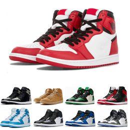 new style 1bfe9 55c89 1s Herren Basketball-Schuhe nach oben Pine Green Court Lila Chicago OG 1  Spiel Royal Blue Backboard Sport Sneaker Designer Trainer Größe 5,5-13  günstige ...