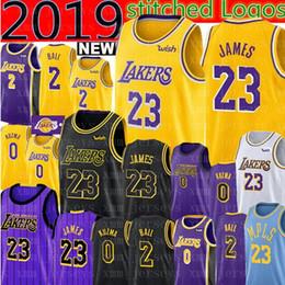5221bfdf2 2019 LeBron 23 James Lakers Jersey Los Angeles Lonzo 2 Ball Lakers Kyle 0  Kuzma Brandon 14 Ingram Basketball Jerseys 24 Kobe 8 Bryant