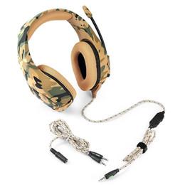 Casque de jeu Style de camouflage de style classique Casque e-sport à commande câblée avec microphone doux basse stéréo denoise HD Voice ? partir de fabricateur