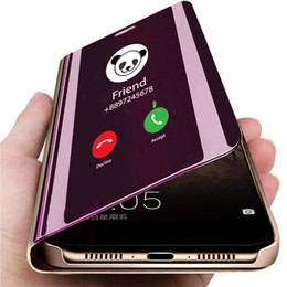 2019 samsung a8 Роскошный Зеркальный Чехол Для Телефона Samsung Galaxy S10 S9 S8 Примечание 8 9 Кожаный Смарт-Вид Флип Защитный Чехол Для Samsung A30 A50 A6 A8