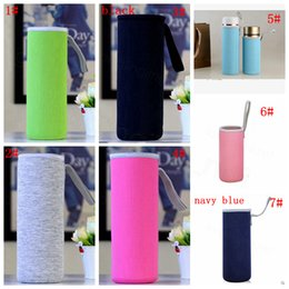 Protable Water Drink Bottle Cooler Carrier Breathable Insulated Cover LC