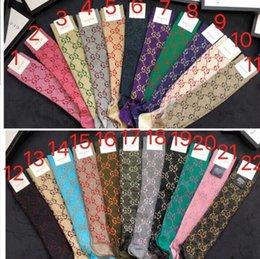 g diseño de letras Rebajas Con Caja Famosa Carta Calcetines largos Nuevo Calcetín de algodón Ajustado Diseño de marca G Letra calcetines de mujer 069