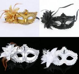 2019 maschere di mascheratura per le donne Moda Donna Sexy maschera Hallowmas veneziana maschera per l'occhio mascherata con fiore piuma di piume festa di Pasqua festa maschera libera la nave sconti maschere di mascheratura per le donne