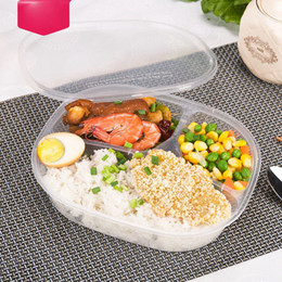 embalagens de plástico descartáveis Desconto 1000ml descartáveis Lunch Box Takeaway Fast Food embalar as caixas do 3 Compartimento de refeições Prep Plastic Container Food