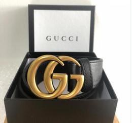 Ceintures de bonne qualité en Ligne-2019 Créateur de mode en cuir ceinture de bonne qualité hommes ou femmes femmes ceinture femmes pour hommes Big Gold Buckle ceintures de luxe