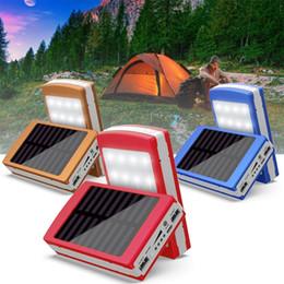 2019 cajas de energía solar Caja de la caja del banco de la energía de bricolaje sin batería LED cargador solar portátil cargador externo de carga portátil para el teléfono 5x18650 batería rebajas cajas de energía solar