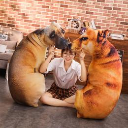 2019 bambole decorative all'ingrosso Nuovo caldo 3D Dog Pet Cuscino Giocattoli di peluche bambole farcito del cuscino dell'automobile del sofà creativo decorativo Regalo di compleanno A16 all'ingrosso sconti bambole decorative all'ingrosso