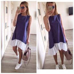 Flouncing rock online-Marke Designer Mode Frauen Kleid Reine Farbe Fischschwanz Pendel Flouncing Sleeveless Kurzen Rock Sommer Cool Home Kleidung 20sf E1