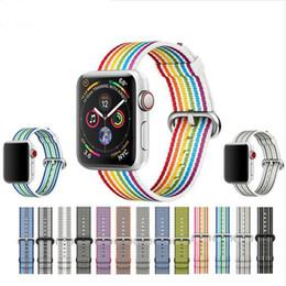 2019 наручные часы Новый нейлон Спорт петли группа для Apple watch серии 4 3 2 1 ремешок для iWatch 42 мм 38 красочные легкий дышащий замена дешево наручные часы