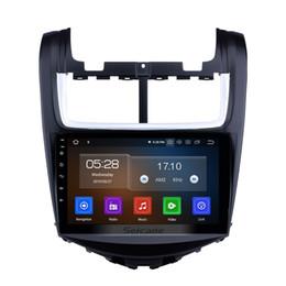 Chevrolet navegación con pantalla táctil online-Quad-core HD Pantalla táctil de 9 pulgadas Android 9.0 Radio GPS de navegación para autos para 2014 Chevy Chevrolet Aveo con soporte AUX WIFI DVD para automóvil Sintonizador de TV