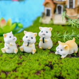 Ratos ornamentos on-line-20pcs / lot 4 Estilo Mice bonito Rato Camundongo Hamster Rata animal estátua modelo estatueta Ornamento Miniatures Início DIY Decor