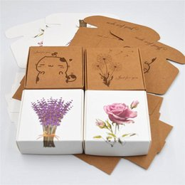 paper aircrafts Promo Codes - Pattern Kraft Paper Packing Gift Boxes, DIY Candy Wedding Party Crafts Gifts Candy Storage Boxes 7.5*7.5*3cm Brown Aircraft Box