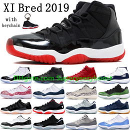 Skins basketball online-2019 Bred 11 11s Men Basketball Schuhe Damen Pink Snake Skin Navy Light Bone Space Jam Gammablau Concord Sneakers US 5.5-13
