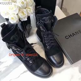 Koreanisches motorrad online-Schwarz-echtes Leder Zipfel Motorrad Heel Short Boots Luxus Designer Damenschuhe Damenmode koreanischen Stil 09175