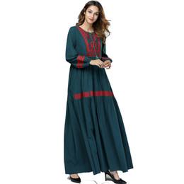 2019 bordados de cauda vermelha bordados Abaya Muçulmano Hijab Vestido Árabe Islã Qatar Robe Dubai Caftan Abayas Para As Mulheres Elbise Kaftan Turco Ramadan Islâmico Vestuário