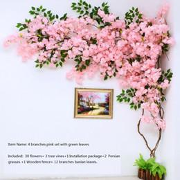 2019 kirschblüten hintergründe künstlicher Kirschblütenbaum Wandpfeife Innendekoration Hintergrund Kirschblütenrohr Kunstblumen Kunstrebe Reben machen sc günstig kirschblüten hintergründe