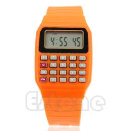 Relojes multipropósito online-Nuevo Fad Children Silicone Date Multi-Purpose Kids Calculadora electrónica Reloj de pulsera