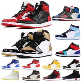 1 alta OG Travis Shoes Scotts Basquetebol Spiderman 1s Top 3 Mens homenagem aos sapatos Início dos azuis marinhos Sports UNC Mulheres sapatilhas do desenhista de