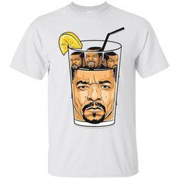2019 camisolas de gelo Ice T Cubo De Gelo Hip Hop Rappers Engraçado Cubo De Gelo T-shirt Dos Homens de Manga Curta Tees Camisa de Costume Jersey camisolas de gelo barato
