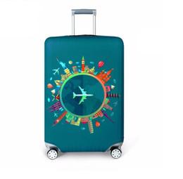 Capa de bagagem elástica on-line-Newl hicker Bagagem de Viagem Capa Protetora Mala Mala Acessórios de Viagem Elástica Bagagem Capa de Poeira Aplicar para 18 '' -32 '' Mala (Varejo)