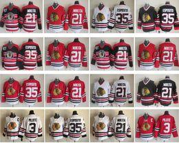 c73ca2782 Chicago Blackhawks Hockey Jersey 21 Stan Mikita 3 Pierre Pilote 35 Tony  Esposito Vintage CCM Authentic 100% Stitched Jerseys discount xxxl blackhawks  jersey ...