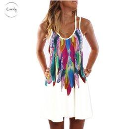 Плюс размер одежды boho style онлайн-Платье Мода Женщины Twill Boho Printed Style Sexy Плюс Размер Женская одежда Повседневная Summer Beach Femme Robe Vestidos Дизайнер одежды