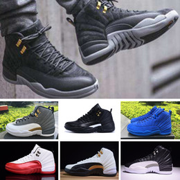 new product 88cc3 25a68 Nike Air Jordan 12 Retro Hohe qualität jd 12 12 s herren frauen air  basketball schuhe OVO Weiß Turnhalle Rot Grau Taxi Wildleder Grippe Spiel  lauf sport ...