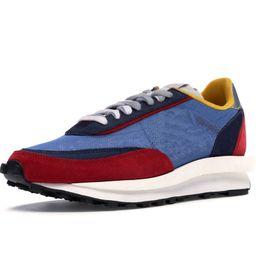 Gofre azul mujer online-2019 LD Waffle Sacai Blue Multi Daybreak Mesh Zapatillas de deporte para hombre Zapatillas de deporte Mujeres diseñador de moda Breathe Sports Running Shoes Green White