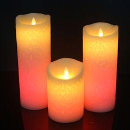8 * 10 cm LED Bougies Changement de Couleur Gradient Respiration Bougie Nuit Lumières Télécommande Électronique Sans Flamme Décoration De Fête De Mariage ? partir de fabricateur