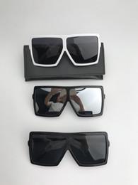 7a112cfa64 BETTY SL 183 Gafas extragrandes Marco blanco Lentes sombreadas en gris Gafa  de sol Gafas de sol de diseñador Hombres Gafas de sol de verano Nuevo con  ...