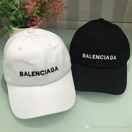 2019 cappelli di tacchino all'ingrosso tappi cappello da sole casuale della protezione di snapback regolabile hip-hop del cappello di skateboard paio sfera del berretto da baseball BALE NCIAGA BB di qualità alta