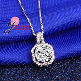 Argentina PATICO Collar de Plata de Ley 925 Caliente y Colgantes Joyas Para Mujeres Con Cadena de Caja de Lujo Grande CZ Cristal Piedra Accesorios Suministro