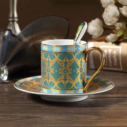 Conjunto de chá de porcelana europeia on-line-European Ceramic Caneca Set britânica Bone China Tea Cup e pires de alta qualidade partido Home Moda Teacup 250ML