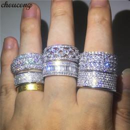anéis de promessa homem mulher Desconto Choucong 6 Estilos Charme Promise Anel de Dedo 925 sterling Silver Diamond Engagement Anéis Da Banda De Casamento Para As Mulheres Homens Jóias