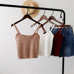 Il panciotto sexy di modo online-Grembiule lavorato a maglia Gilet Summer New Wide Range Sexy Plain Bottom Tops Moda femminile Trend Style jooyoo