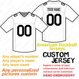 f8bf013b0 american football jerseys white black Coupons - 2019 custom American  football Jersey anyname anynumber football jerseys
