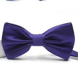 Мужские галстуки-бабочки онлайн-casual bow ties for Mens dark case bow ties formal dress fashion bow tie pure color red wedding wholesale custom