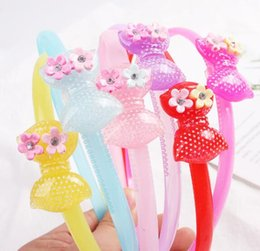 Deutschland Verkauf von Schmuck Korean Edition Mädchen Großhandel Kunststoff Stirnband Candy Kinder Acryl Haarband WL157 supplier plastic hair hoops wholesale Versorgung