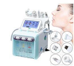 Hydrafacial spa online-Portable 6 in 1 Hydro Peel Microdermabrasion Hydra Facial Hydrafacial Deep Cleaning RF Face Lift Skin Tightening Spa Beauty Machine home use
