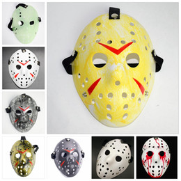 masque de fête jason Promotion Jason Voorhees Mask Adults Masquerade Skull Masks Paintball Movie Mask Scary Halloween Costume Cosplay Festival Party Masks GGA2457