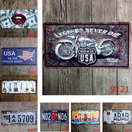 Guitarra de bar online-Bandera de EE. UU. Guitar Legends Car Metal Matrícula Vintage Cartel de chapa Bar Pub Café Garaje Hogar Decorativo Metal Sign Art Art Painting